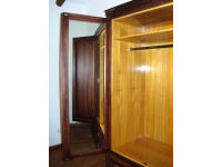 Wardrobe in acajou with chestnut lining 4