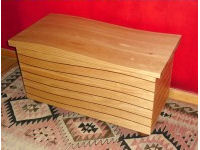 'The Wave', chest in pine and red cedar 3