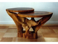 Carved table in tulip wood 1
