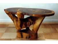 Carved table in tulip wood 2